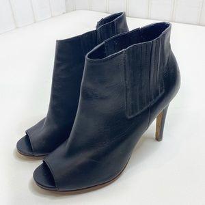 Halogen Camden heeled peep toe ankle booties 602